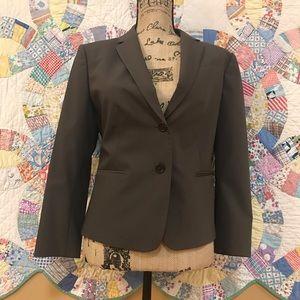 Ann Taylor NWOT Blazer SZ 8 brown pinstripe